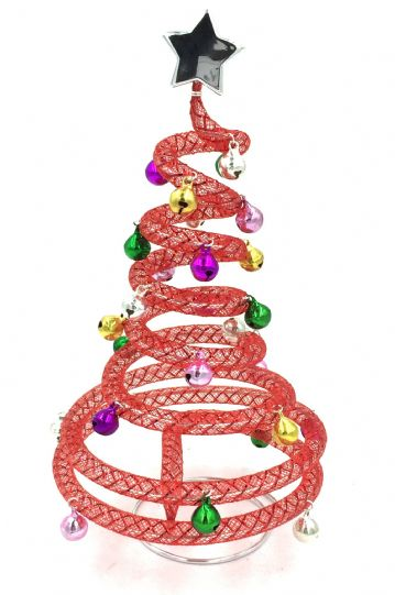 Jingle bells christmas tree kit - red- multi coloured bells